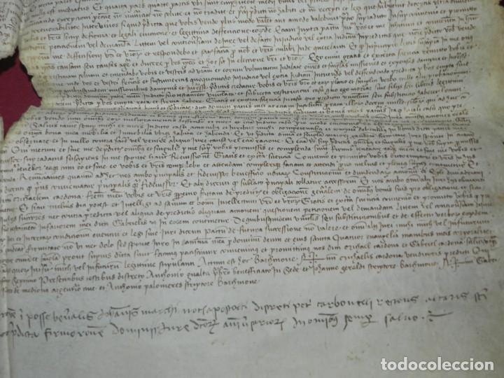 Arte: (M) PERGAMINO DE CARDONA S.XVIII, 60X45 CM, SEÑALES DE USO CON ROTURITAS - Foto 6 - 177183512