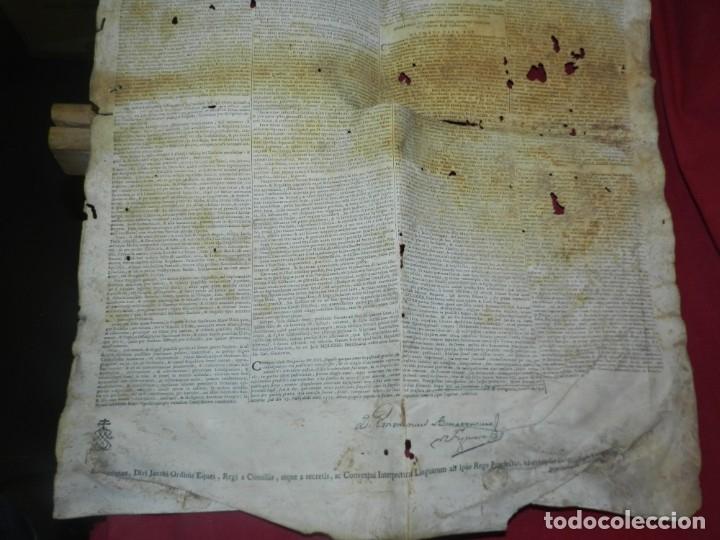 Arte: (M) PERGAMINO CON GRABADO DE ZARAGOZA AÑO 1774 D. EMMANUEL BONAVENTURA FIGUEROA - Foto 3 - 177183964