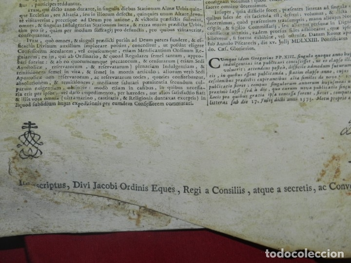 Arte: (M) PERGAMINO CON GRABADO DE ZARAGOZA AÑO 1774 D. EMMANUEL BONAVENTURA FIGUEROA - Foto 9 - 177183964