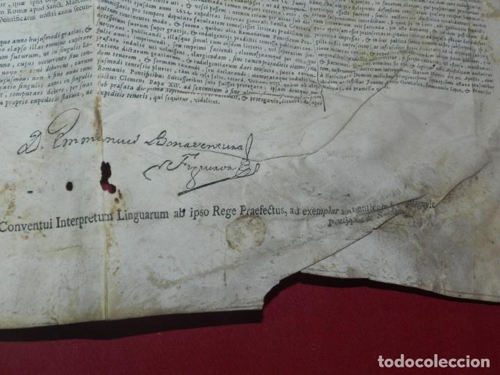 Arte: (M) PERGAMINO CON GRABADO DE ZARAGOZA AÑO 1774 D. EMMANUEL BONAVENTURA FIGUEROA - Foto 10 - 177183964