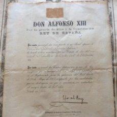 Art: TÍTULO DE CABALLERO DE LA ORDEN DE ALFONSO XII-1903. Lote 181611470