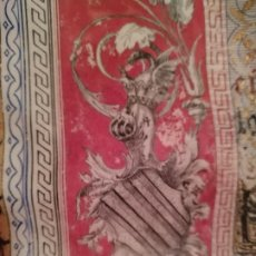 Arte: PERGAMINO ILUMINADO CONMEMORATIVO PUERTO VALENCIA 1896 J LLORENS M MAESE PEÑA. Lote 186190780