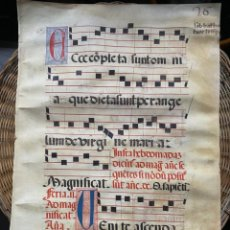 Art: PARTITURA CANTO GREGORIANO S.XII. Lote 191616161