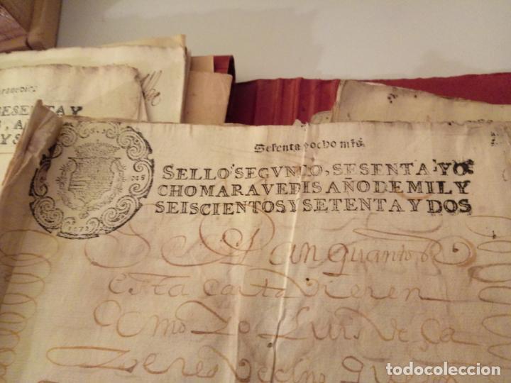 MANUSCRITOS CON SELLO AÑO 1672 SELLO SEGUNDO (Arte - Manuscritos Antiguos)