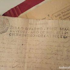 Arte: MANUSCRITOS CON SELLO AÑO 1697 SELLO QUARTO. Lote 191769182