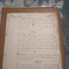 Arte: MANUSCRITO ANTIGUO DE TRUJILLO 1889. Lote 191844957