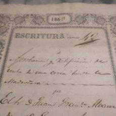 Arte: ESCRITURA TRUJILLO 1863.. Lote 191845898