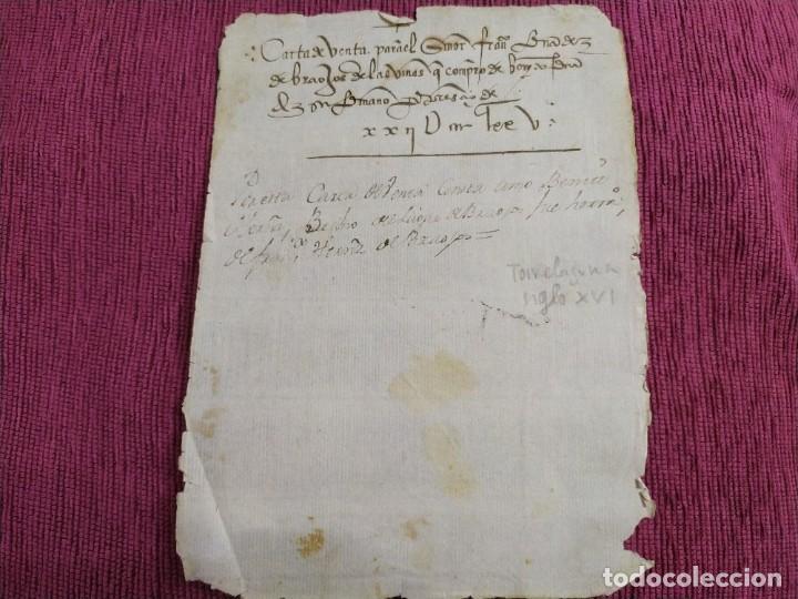 SIGLO XVI. CARTA DE VENTA. (Arte - Manuscritos Antiguos)