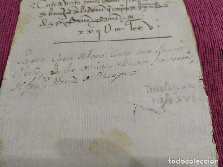 Arte: Siglo XVI. Carta de venta. - Foto 3 - 193658971
