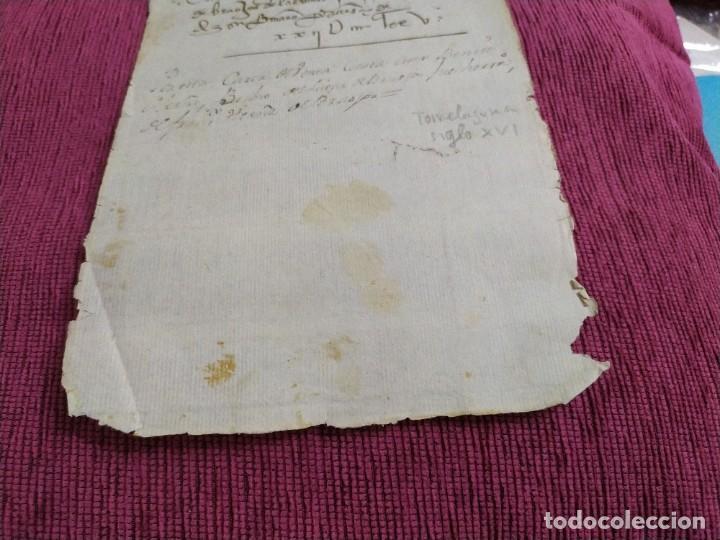 Arte: Siglo XVI. Carta de venta. - Foto 4 - 193658971