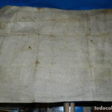 Arte: (M) DOCUMENTO PERGAMINO DE LA VILLA DE SABADELL, NO PUEDO LEER LA FECHA. Lote 196900178