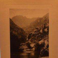 Arte: LAMINA DE PICOS DE EUROPA DESFILADERO DE HERMIDA, HUECOGRABADO AÑOS 30-40, WUNDERLICH.. Lote 197028967
