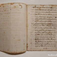 Arte: MANUSCRITO CLAUSULA HERENCIA CRISTOBAL CARDONA DESCENDIENTE DE CRISTOBAL COLON 1664 MAYORAZGO. Lote 199407056