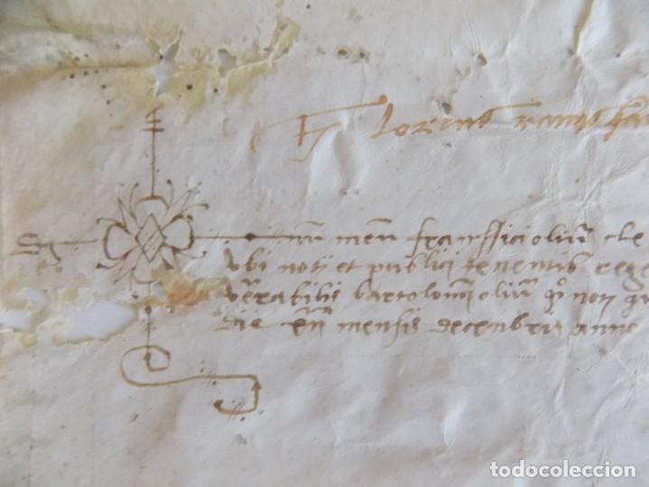 LIBRERIA GHOTICA. PERGAMINO MANUSCRITO ACTA NOTARIAL SIGLO XVII. (Arte - Manuscritos Antiguos)