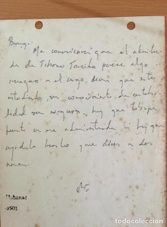 MANUSCRITO ERNESTO CHÉ GUEVARA (Arte - Manuscritos Antiguos)