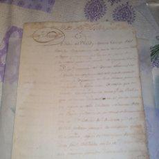 Arte: MANUSCRITO ANTIGUO 1784 ACERCA DE ACIONES DE PUEBLOS EN EL BANCO NACIONAL DE SAN CARLOS.. Lote 201807120