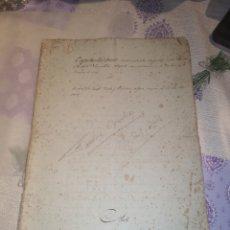 Arte: MANUSCRITO ANTIGUO CAPITULACIONES MATRIMONIALES 1829 MATARO.. Lote 201807873