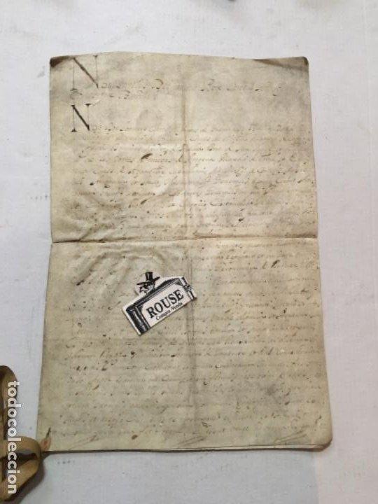 (M) BARCELONA 1692 - ANTIGUO MANUSCRITO SOBRE PERGAMINO 4 PÁG. GRAU DE DOR A GERONI ROQUER EN 1692 (Arte - Manuscritos Antiguos)