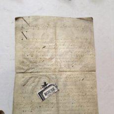 Arte: (M) BARCELONA 1692 - ANTIGUO MANUSCRITO SOBRE PERGAMINO 4 PÁG. GRAU DE DOR A GERONI ROQUER EN 1692 . Lote 202255923
