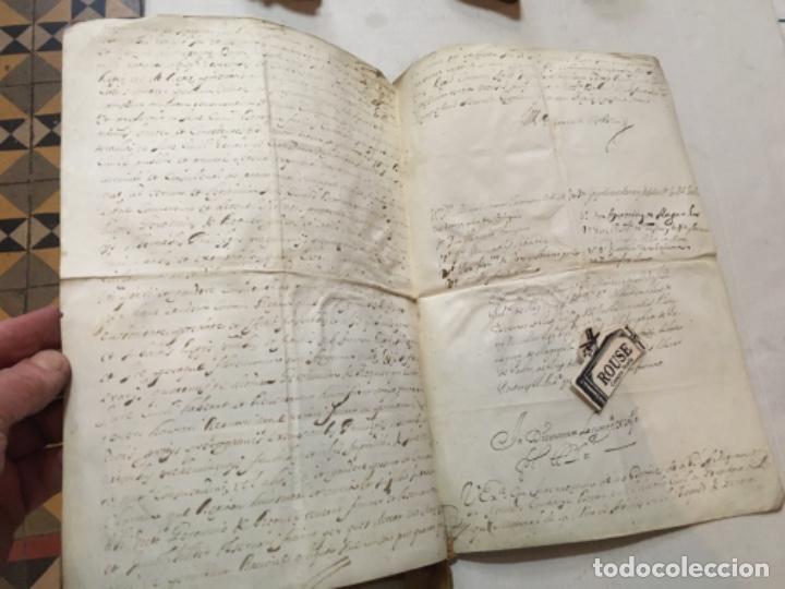 Arte: (M) BARCELONA 1692 - ANTIGUO MANUSCRITO SOBRE PERGAMINO 4 pág. GRAU DE Dor a GERONI ROQUER EN 1692 - Foto 2 - 202255923