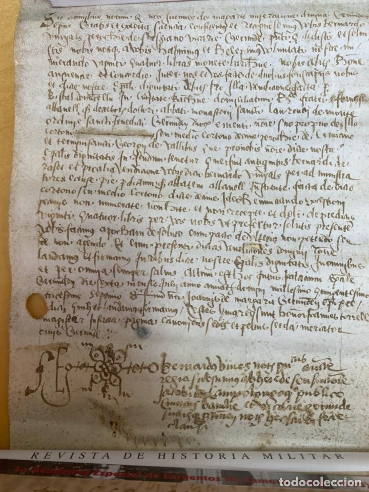 AÑO 1537.- PERGAMINO MANUSCRITO ACTA NOTARIAL. 24X18CM (Arte - Manuscritos Antiguos)