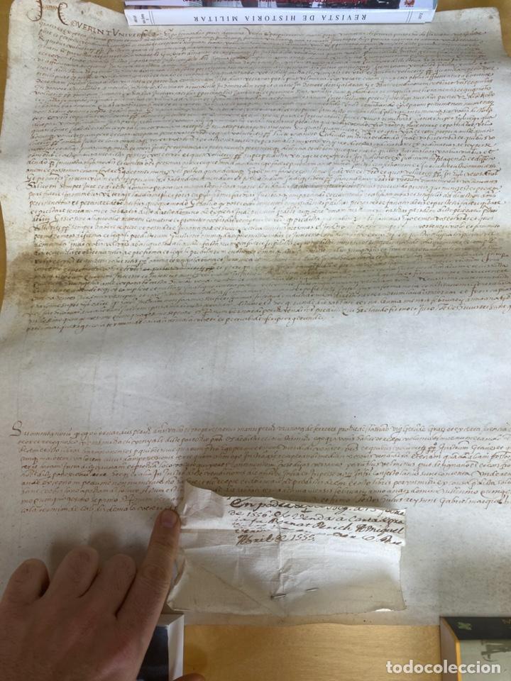 AÑO 1557.- PERGAMINO. PARROQUIA DE HASSIANO. 47X39CM (Arte - Manuscritos Antiguos)