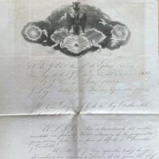 Arte: AÑO 1873.- MASONERIA ESPAÑOLA. GRAN ORIENTE DE ESPAÑA. MANUSCRITO. LOGIA ESTRELLA DEL NORTE BILBAO.. Lote 202693531