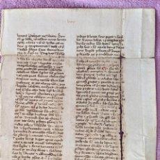 Arte: MANUSCRITO ORIGINAL DE LOS PRIMEROS PAPELES UTILIZADOS EN ESPAÑA DEL SIGLO XIV. Lote 203448642