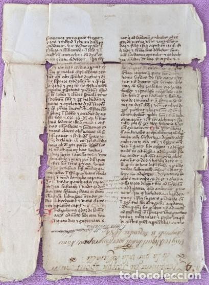 MANUSCRITO ORIGINAL DE LOS PRIMEROS PAPELES UTILIZADOS EN ESPAÑA DEL SIGLO XIV (Arte - Manuscritos Antiguos)