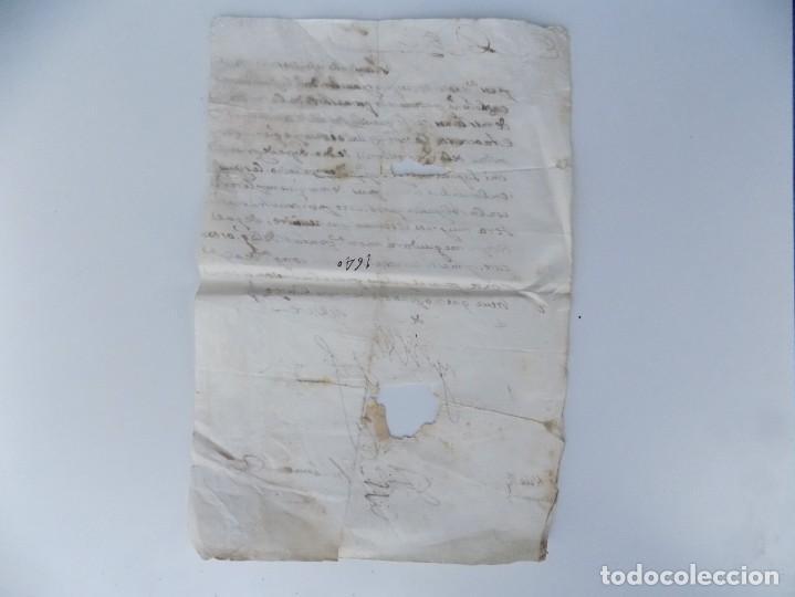 Arte: MANUSCRITO HISTORICO DE LA SUBLEVACIÓN DE LOS CATALANES EN 1640.FIRMADO FELIPE IV - Foto 6 - 55341848