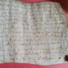Arte: MANUSCRITO PERGAMINO BAGES BARCELONA S.XV- XVI JOAN LABORDE ( OCCITANO PROVENZAL). Lote 205278638