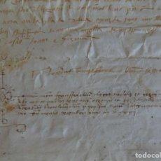 Arte: LIBRERIA GHOTICA. PERGAMINO MANUSCRITO ACTA NOTARIAL SIGLO XVII.. Lote 205809191