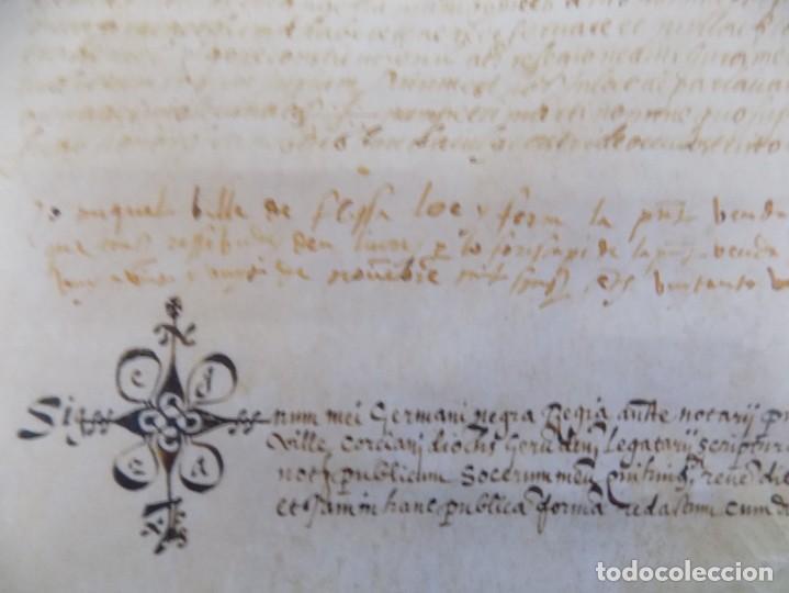 LIBRERIA GHOTICA. PERGAMINO MANUSCRITO DEL SIGLO XV. AÑO 1482.VENDA DE TIERRA DE ULTRAMAR.42 X 32 CM (Arte - Manuscritos Antiguos)