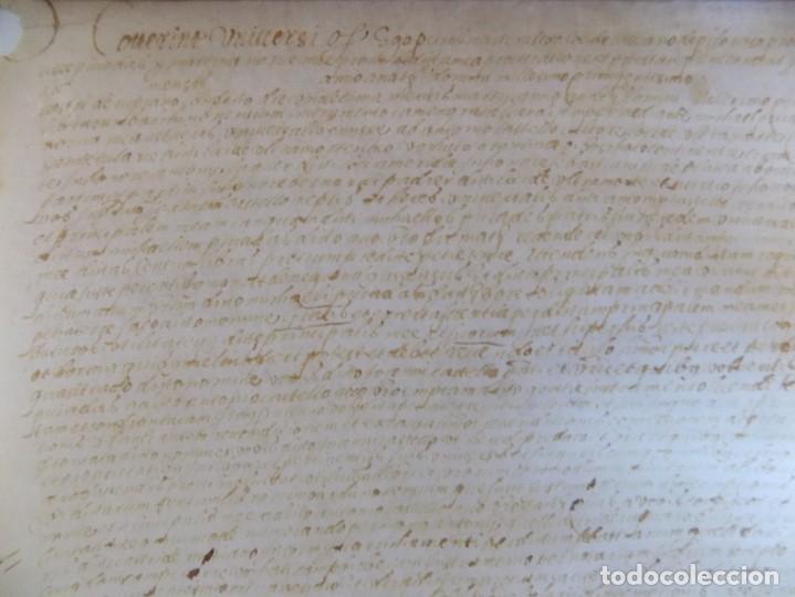 Arte: LIBRERIA GHOTICA. PERGAMINO MANUSCRITO DEL SIGLO XV. AÑO 1482.VENDA DE TIERRA DE ULTRAMAR.42 X 32 CM - Foto 5 - 205820088