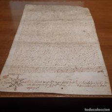 Arte: GIRONA, 30/04/1609. CARTA NUPCIAL CAROLINA ROMEU. EN PERGAMINO. Lote 206323128