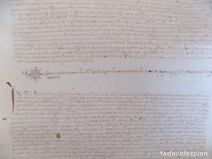 LIBRERIA GHOTICA. GRAN PERGAMINO MANUSCRITO DEL S. XVI. 1586.SANT JULIÀ DE RAMIS. BORDILS 73 X 34 CM (Arte - Manuscritos Antiguos)