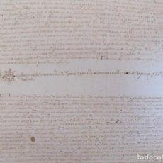Arte: LIBRERIA GHOTICA. GRAN PERGAMINO MANUSCRITO DEL S. XVI. 1586.SANT JULIÀ DE RAMIS. BORDILS 73 X 34 CM. Lote 207030510