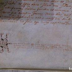 Arte: PERGAMINO MANUSCRITO SIGLO XVI - AÑO 1571 - 60 X 59 CM - EXCELENTE CONSERVACION - PIEZA DE LUJO.. Lote 211928993