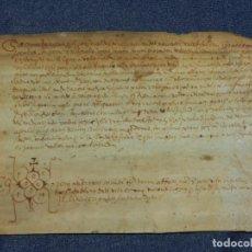 Arte: (M) ANTIGUO PERGAMINO AÑO 1568 VILLA DE BISULDUNUM - BESALÚ - 19,5X14CM. ORIGINAL DE LA ÈPOCA. Lote 212522007