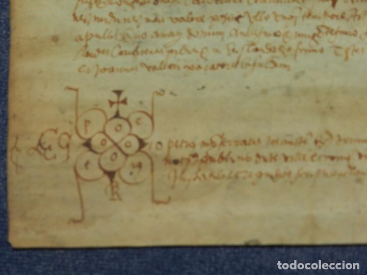 Arte: (M) ANTIGUO PERGAMINO AÑO 1568 VILLA DE BISULDUNUM - BESALÚ - 19,5X14CM. ORIGINAL DE LA ÈPOCA - Foto 4 - 212522007