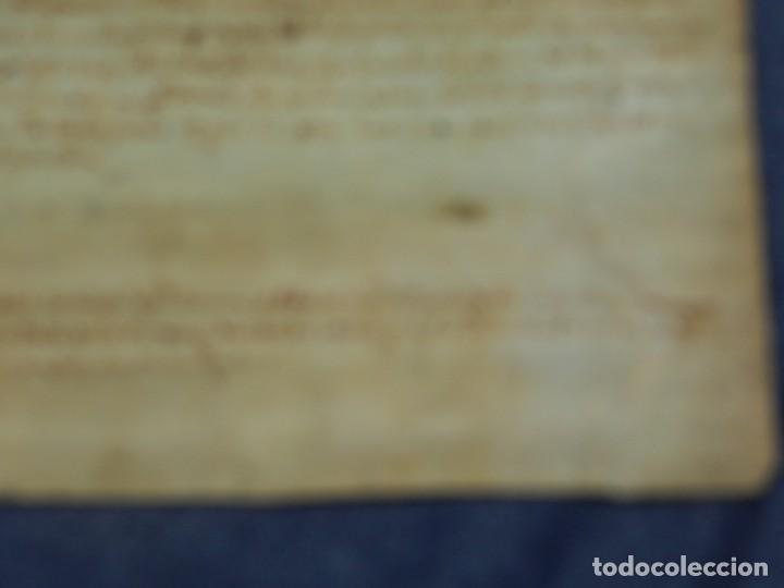 Arte: (M) ANTIGUO PERGAMINO AÑO 1568 VILLA DE BISULDUNUM - BESALÚ - 19,5X14CM. ORIGINAL DE LA ÈPOCA - Foto 6 - 212522007