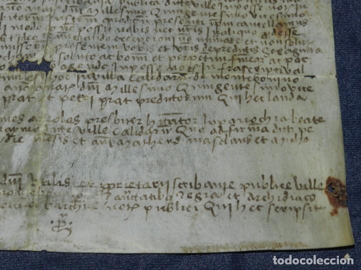 Arte: (M) ANTIGUO PERGAMINO VILLA CALIDARUM DE MONTE BONINO - CALDAS DE MONTBUI AÑO 1529, 28X18CM, - Foto 8 - 212522540