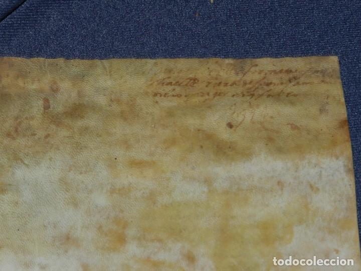 Arte: (M) ANTIGUO DOCUMENTO PERGAMINO MEDIEVAL MANUSCRITO SOBRE PERGAMINO Bisuldum/Bisuldunum Besalú 14?6 - Foto 2 - 212523021