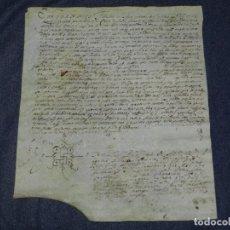 Arte: (M) ANTIGUO PERGAMINO AÑO 1627 SANTA MARÍA DE SALES - VILADECANS (BAIX LLOBREGAT) 21,5X26CM.. Lote 212525126