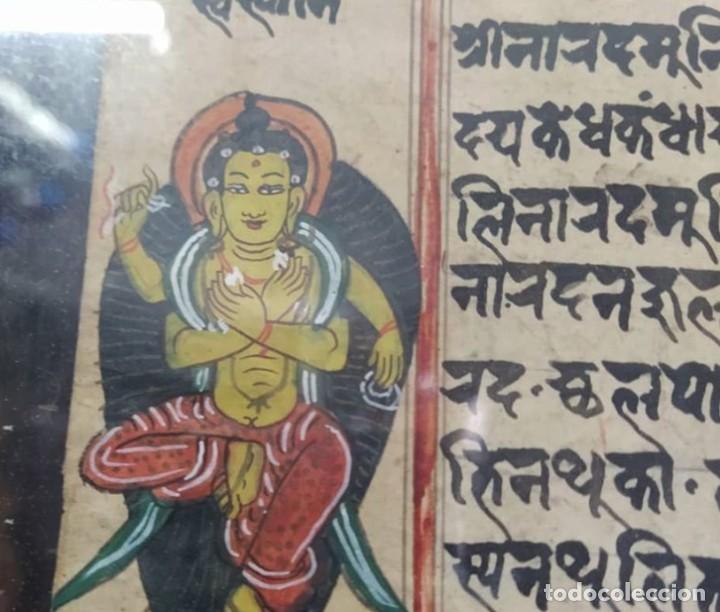 Arte: veda o Upanishad..las primeras escrituras del mundo.. en sánscrito original..papel de moras y bambú - Foto 2 - 212553911