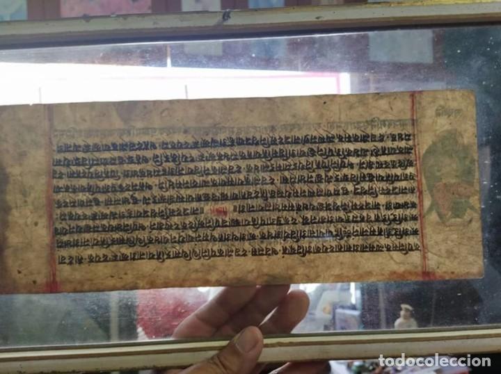 Arte: veda o Upanishad..las primeras escrituras del mundo.. en sánscrito original..papel de moras y bambú - Foto 5 - 212553911