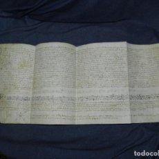 Arte: (M) DOCUMENTO PERGAMINO AÑO 1509 SANT JOAN DE LES ABADESSES - 64X25CM. Lote 212595600