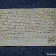 Arte: (M) ANTIGUO PERGAMINO AÑO 1631 BISULDUNUM - BESALÚ - 25X14CM. .- ORIGINAL DE LA EPOCA. Lote 212761438