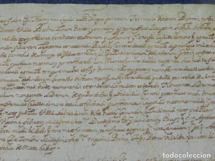 Arte: (M) ANTIGUO PERGAMINO AÑO 1631 PARROQUIA DE MATA, PORQUERES PLA DE LESTANY, GERONA - Foto 3 - 212761438