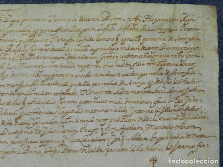 Arte: (M) ANTIGUO PERGAMINO AÑO 1631 PARROQUIA DE MATA, PORQUERES PLA DE LESTANY, GERONA - Foto 4 - 212761438